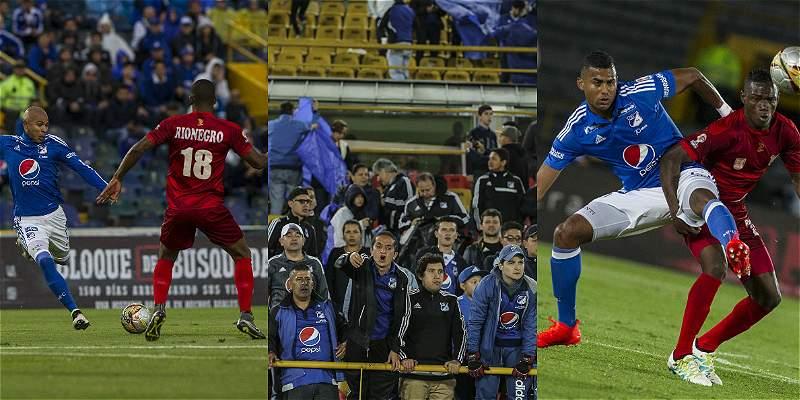 En imágenes: el partido que igualaron 0-0 Millonarios y Rionegro