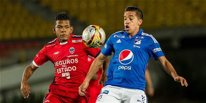 Millonarios ganó, en medio del sufrimiento: 3-2 sobre Fortaleza