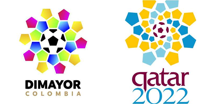 Nuevo logo de Dimayor y el polémico parecido al de Qatar 2022