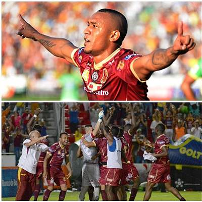 Tolima vs. Bucaramanga collage