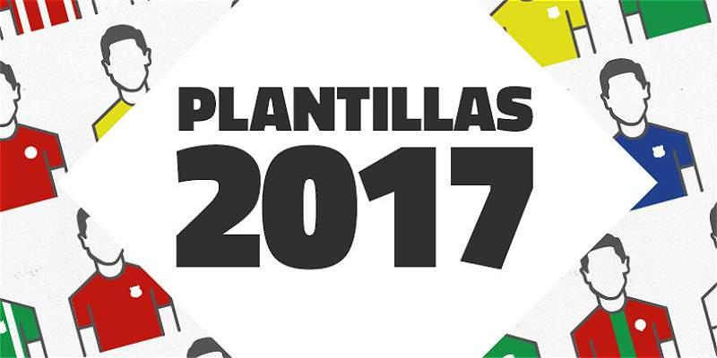 Nóminas de Equipos Liga Águila 2017