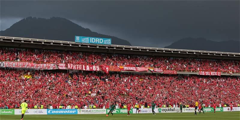 América, el club caleño que juega de local en El Campín, de Bogotá