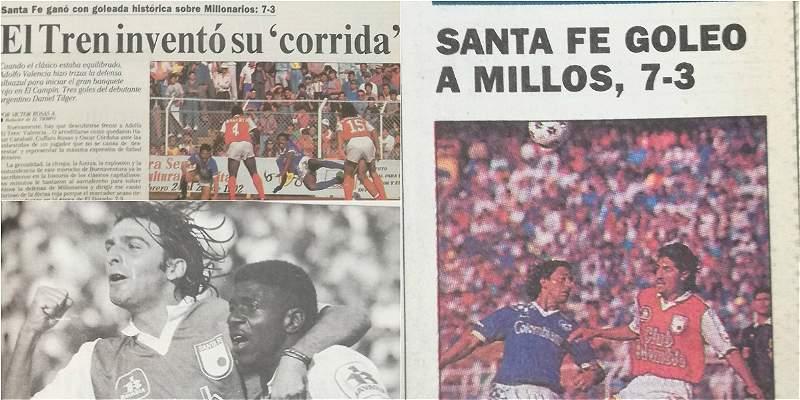 Santa Fe 7 Millonarios 3