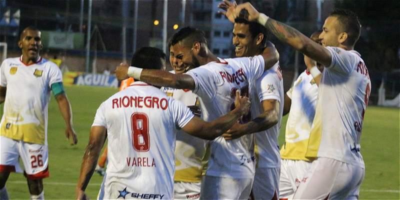Equidad y Rionegro Águilas no se hicieron daño en Techo: empataron 2-2