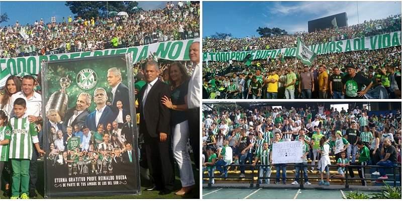 En fotos: la emotiva despedida de los hinchas de Nacional para Rueda
