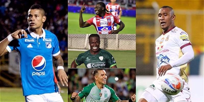 Goleadores de la Liga Águila II 2017 - Tabla de artilleros