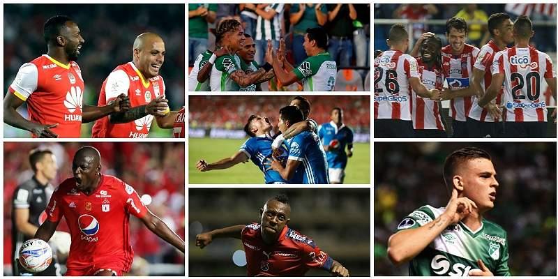 2018 internacional para el fútbol colombiano: 7 históricos en Copas