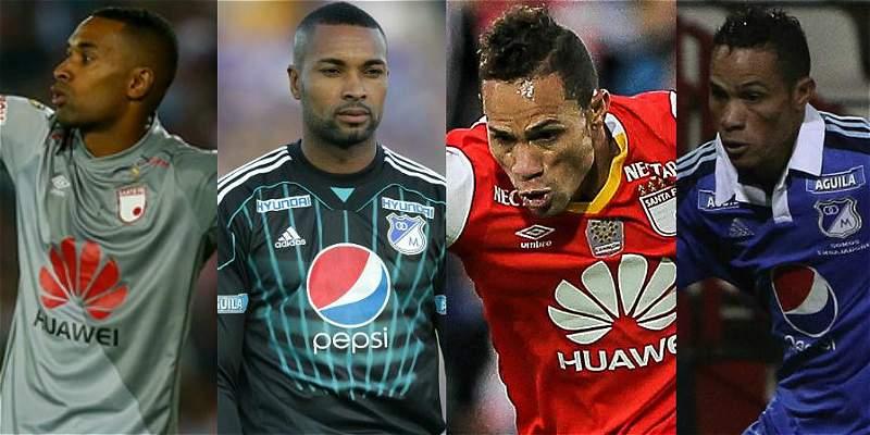 Los futbolistas que han jugado en Millonarios y Santa Fe