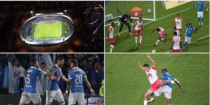 Millonarios vs. Santa Fe collage