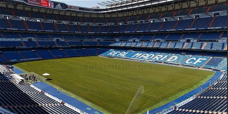 Real Madrid estrena nuevo césped en el estadio Santiago Bernabéu