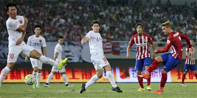 Atlético recuperó el gol en China: venció 0-3 a Shanghai SIPG