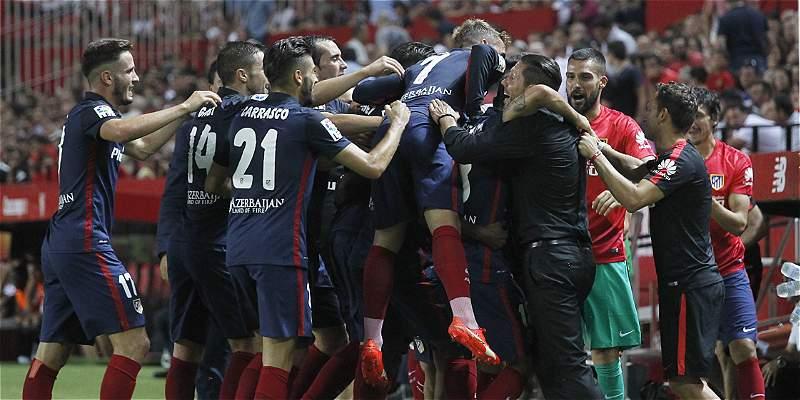 Las mejores imágenes del triunfo 0-3 de Atlético sobre Sevilla