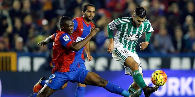 Betis superó 0-1 a Levante, en el inicio de la fecha 13 en España