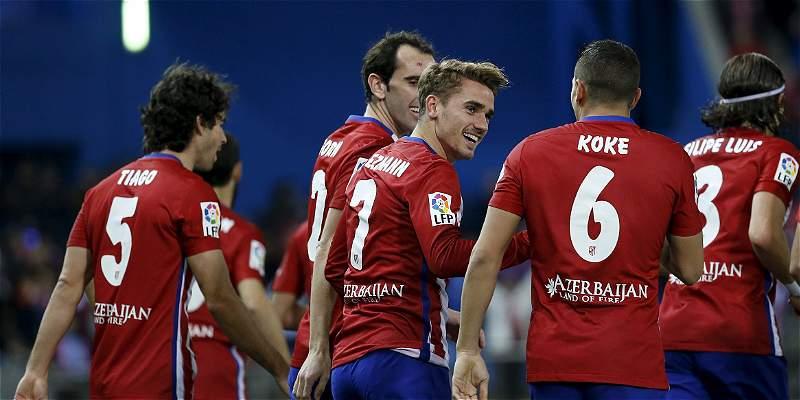 Un gol de Griezmann le bastó al Atlético para vecer 1-0 al Espanyol