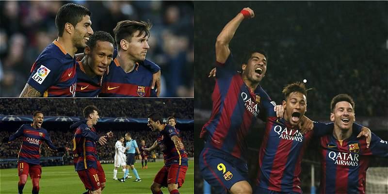 La \'MSN\', con más goles que Real Madrid, Bayern Múnich y PSG