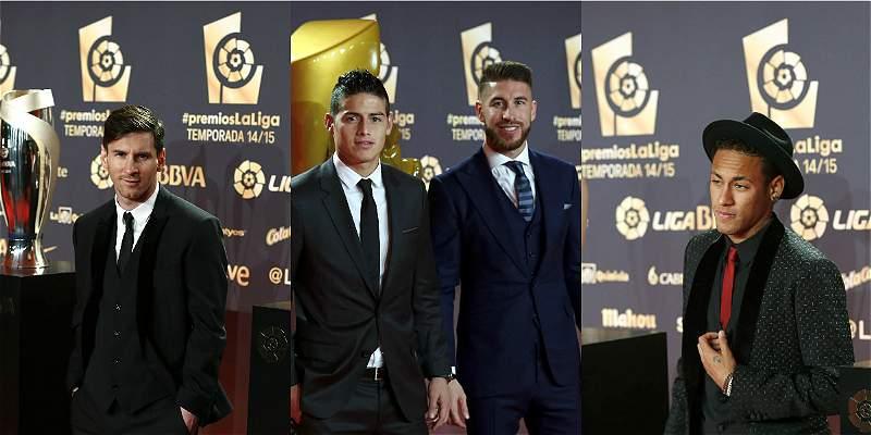 Barcelona y Real Madrid arrasaron en los premios de la Liga española