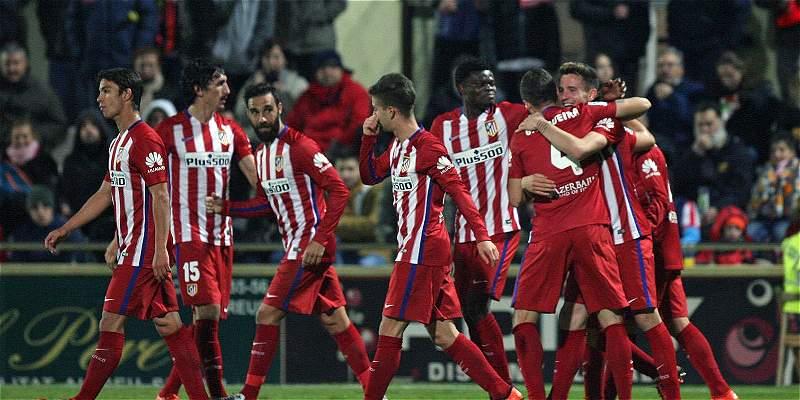 Atlético de Madrid superó 1-2 al Reus, por la Copa del Rey