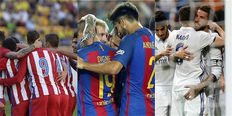 Arranca la Liga de España: Barcelona, Madrid y Atlético, candidatos