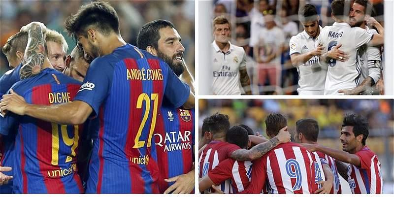 Barcelona, Madrid y Atlético, los candidatos al título de la Liga
