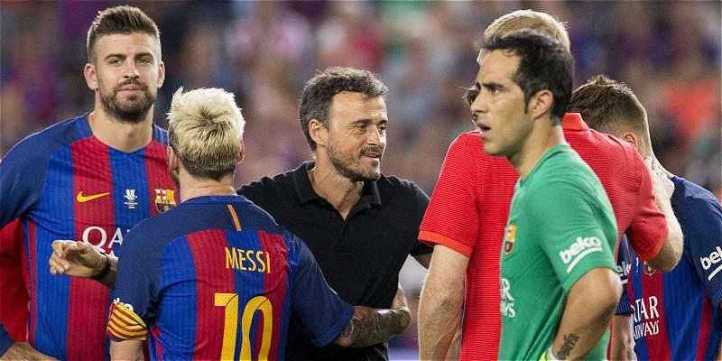 Luis Enrique, en desacuerdo con el formato de la Supercopa de España