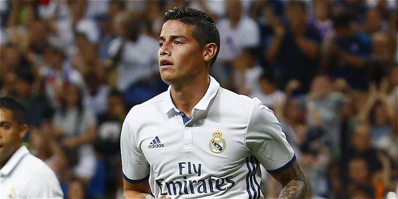 James Rodríguez, convocado por Real Madrid para el debut en la Liga