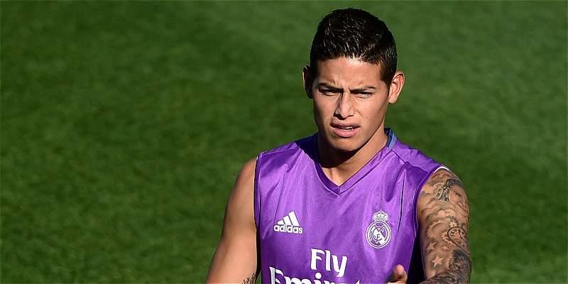 James Rodríguez, suplente en el Real Madrid para enfrentar a Celta