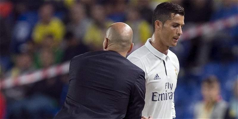 Zidane justificó cambio de Cristiano, por próximo duelo de Champions