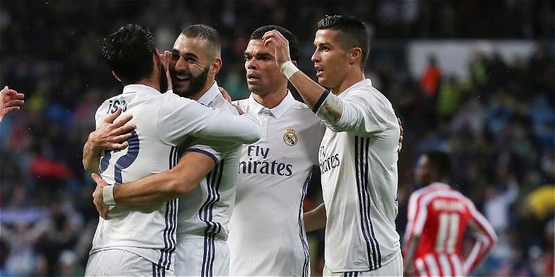 Real Madrid venció 2-1 a Athletic de Bilbao y es nuevo líder en España