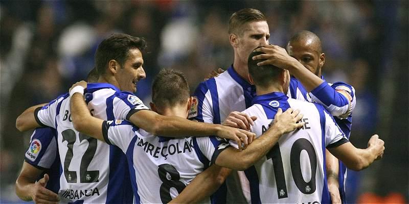Sin Marlos Moreno, Deportivo La Coruña le ganó 5-1 a Real Sociedad
