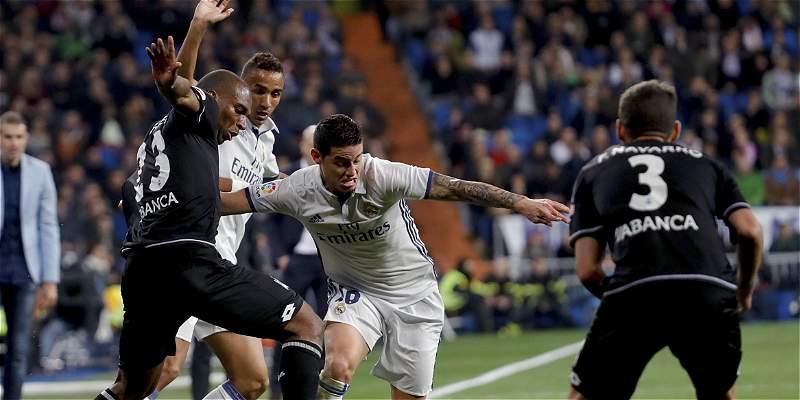 James estuvo los 90 minutos en triunfo 3-2 del Madrid sobre La Coruña
