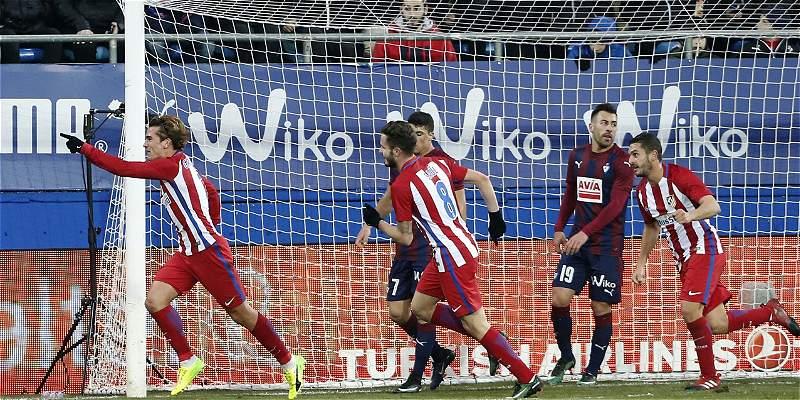 Atlético logró su segunda victoria consecutiva: 0-2 sobre Eibar