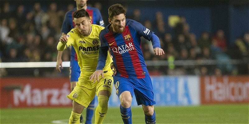 Messi, con un golazo, salvó a Barcelona, que empató 1-1 con Villarreal
