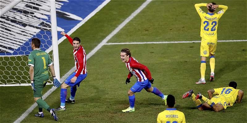 Atlético perdió 2-3 frente a Las Palmas, pero avanzó a cuartos de Copa