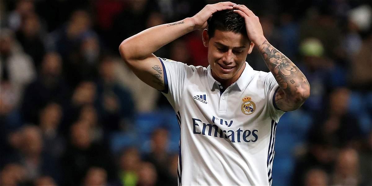 James Rodríguez continúa en recuperación y no estará en Copa del Rey