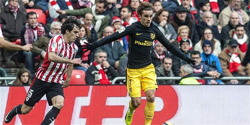 Griezmann salvó al Atlético en su visita al Athletic: igualaron 2-2