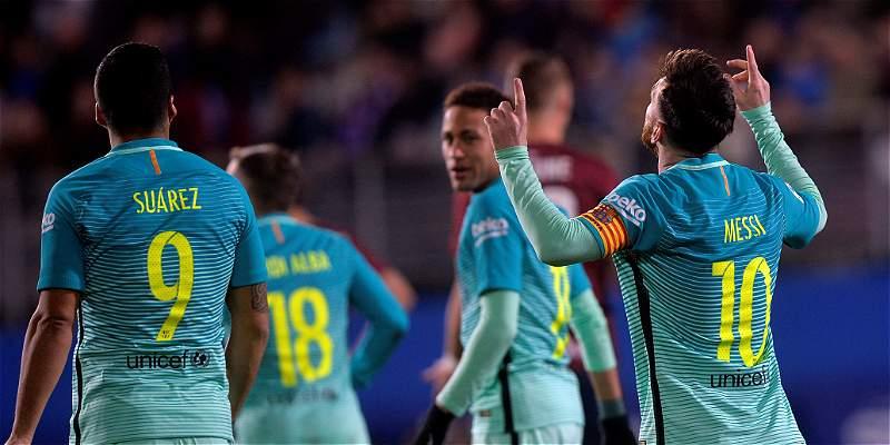 La \'MSN\' volvió a marcar en Liga: Barcelona venció 0-4 a Eibar