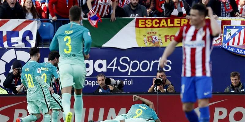 Barcelona le puso 'picante' a la Liga: superó 1-2 al Atlético