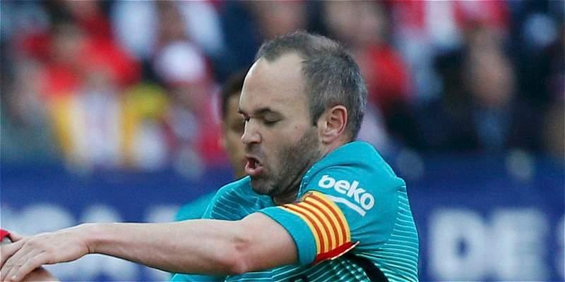 'Barcelona debe sacar los partidos para intentar estar arriba':Iniesta