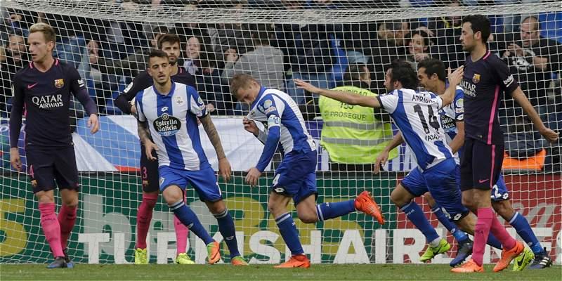 Barcelona \'aterrizó\' en Riazor: perdió 2-1 con Deportivo La Coruña