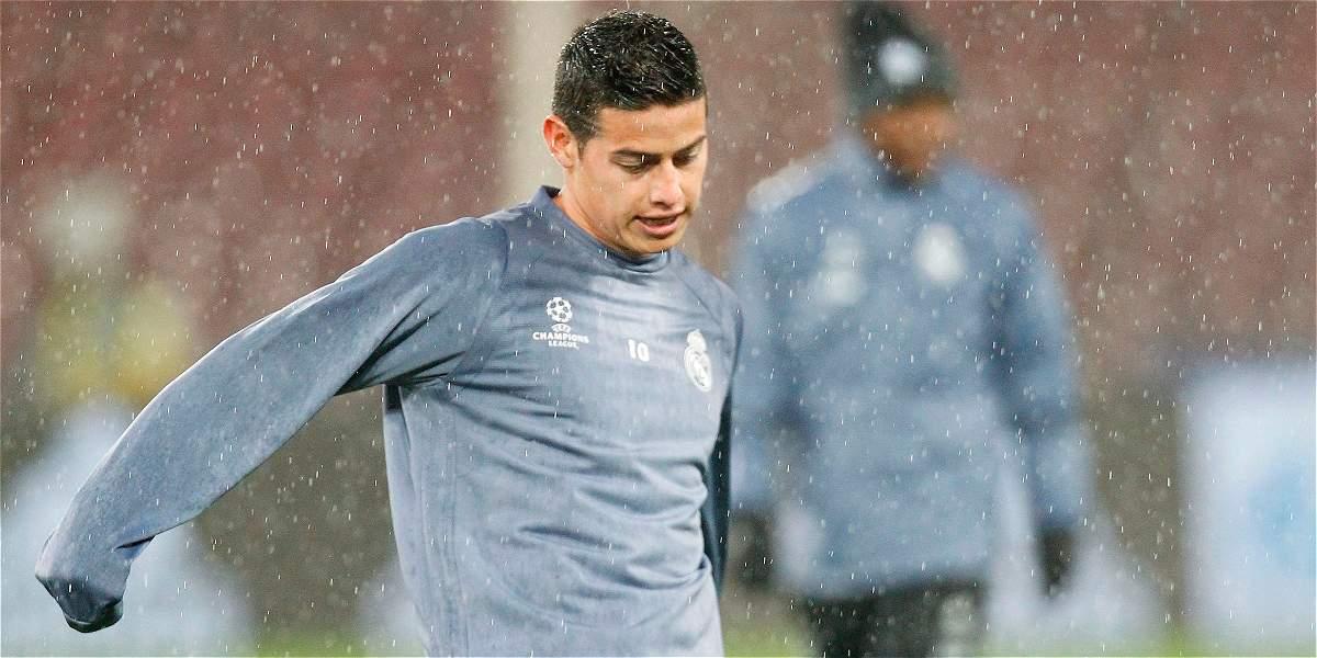 James Rodríguez, confirmado como titular del Real Madrid contra Betis