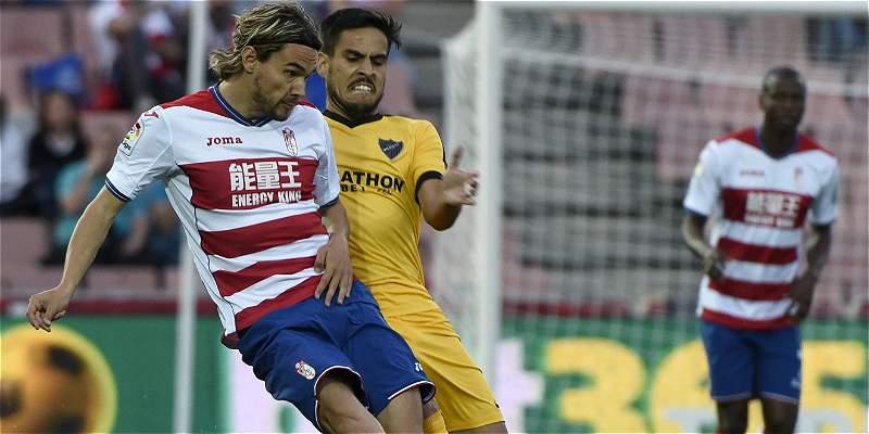 El Granada de Adrián Ramos, más cerca de la B: perdió 0-2 con Málaga