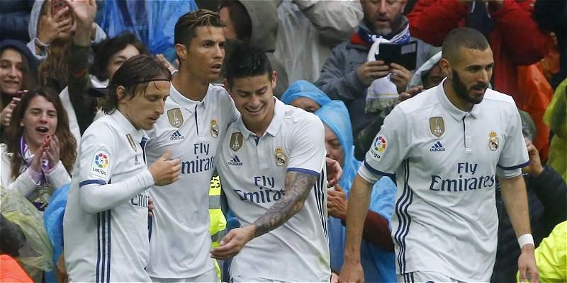 Con James Rodríguez 66 minutos, Real Madrid derrotó 2-1 al Valencia
