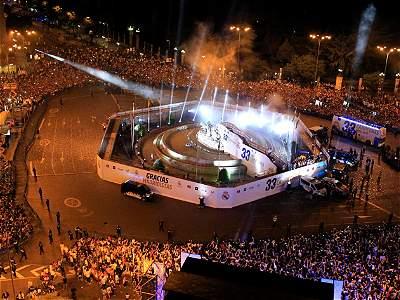 Festejo Real Madrid en Cibeles/GALERÍA