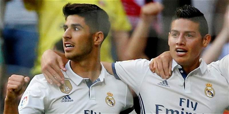 \'Espero que James y Morata puedan seguir en el Real Madrid\': Asensio