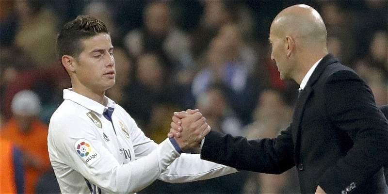 Zidane estaría convenciendo a James para que se quede en el Madrid