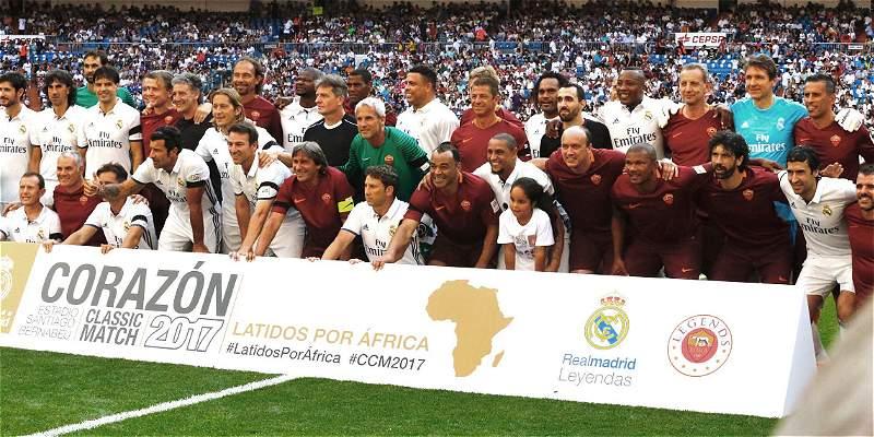 Con gol de Edwin Congo, leyendas de Real Madrid vencieron 4-0 a Roma