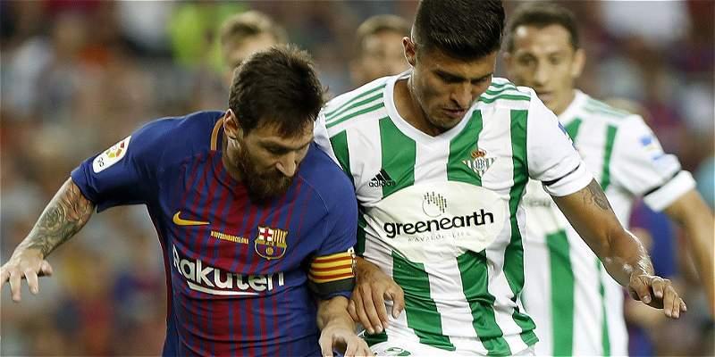 'JuanJo' Narváez no pudo evitar la caída 2-0 de Betis contra Barcelona