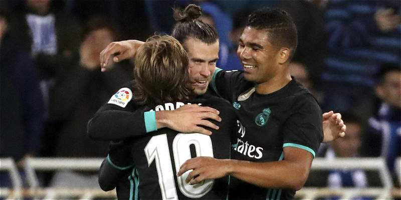 Real Madrid volvió a ganar en la Liga: venció 1-3 a la Real Sociedad