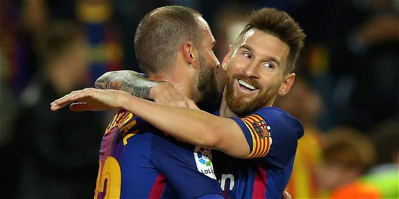 Con póker y récord de Messi, Barça goleó 6-1 a Eibar y es más líder