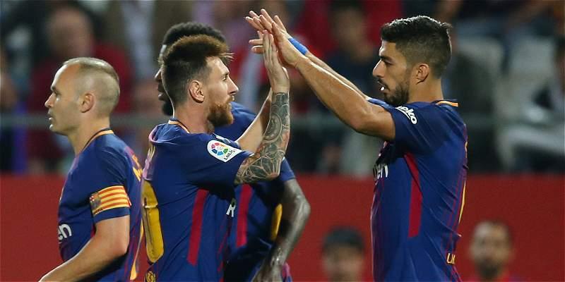 Barcelona goleó 0-3 al Girona, que tuvo a Marlos, Espinosa y Mojica